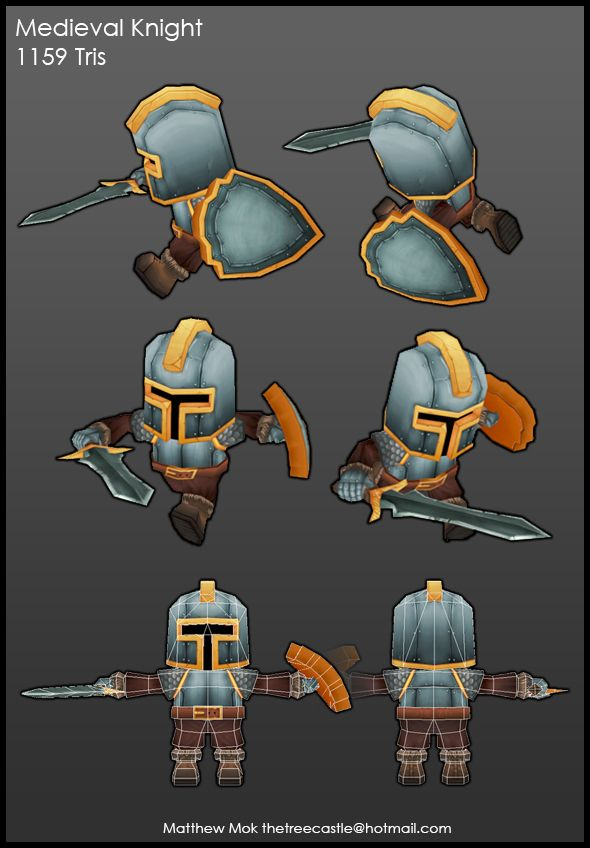 Low Poly Medieval Knight by treecastle on deviantART