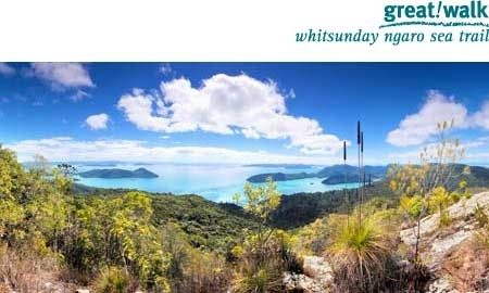 Discover diverse landscapes and breathtaking views on the Whitsunday Ngaro Sea Trail. Photo: J Heitman.