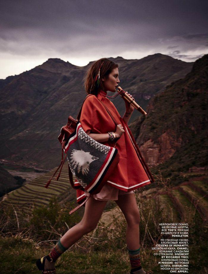 """Catherine McNeil para """"Vogue"""" Rússia de março de 2014. Fonte: FFW"""