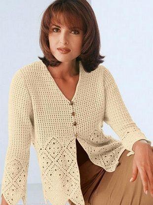 Женская одежда крючком. Схемы и описание - Страница 2