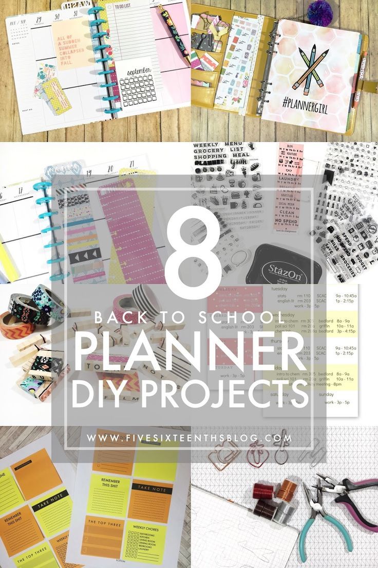 Make it Monday // 8 Planner DIYs for Back to School   It is time to go back to school!!! Many probably have already started some are starting in the next few weeks and some may start after Labor Day...either way it's time to get some learning on. When I was younger our elementary middle & high schools didn't go back until after Labor Day. We went back to college around this time each year though. Move in day was always my favorite and least favorite time. You get to see your friends....but…