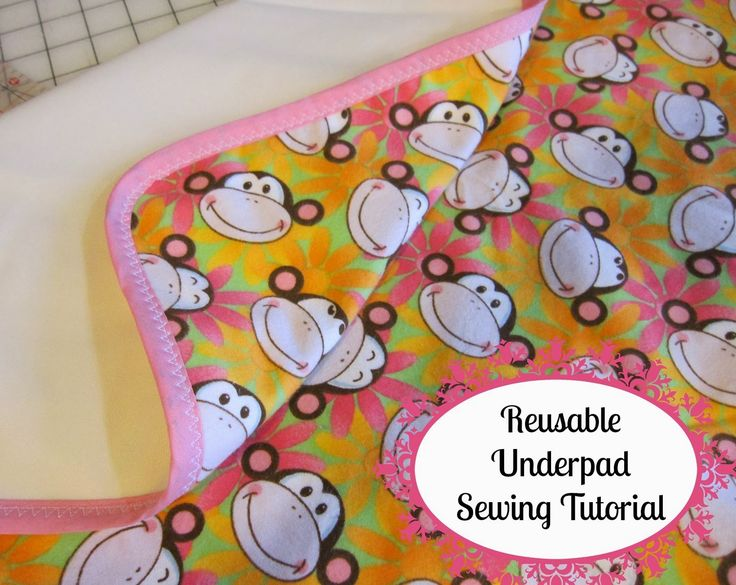 TUTORIAL - Reusable Absorbent Underpads - Bed pads