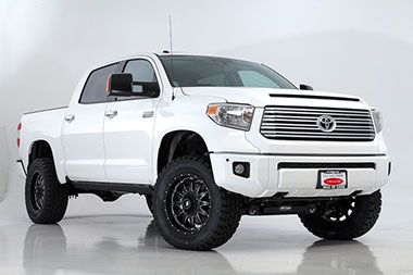 2014 Toyota Tundra lifted by DSI with black LRG wheels