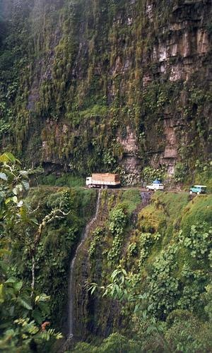 Just outside the city of La Paz is the Yungas Road, also known as Death Road and the World's Most Dangerous Road