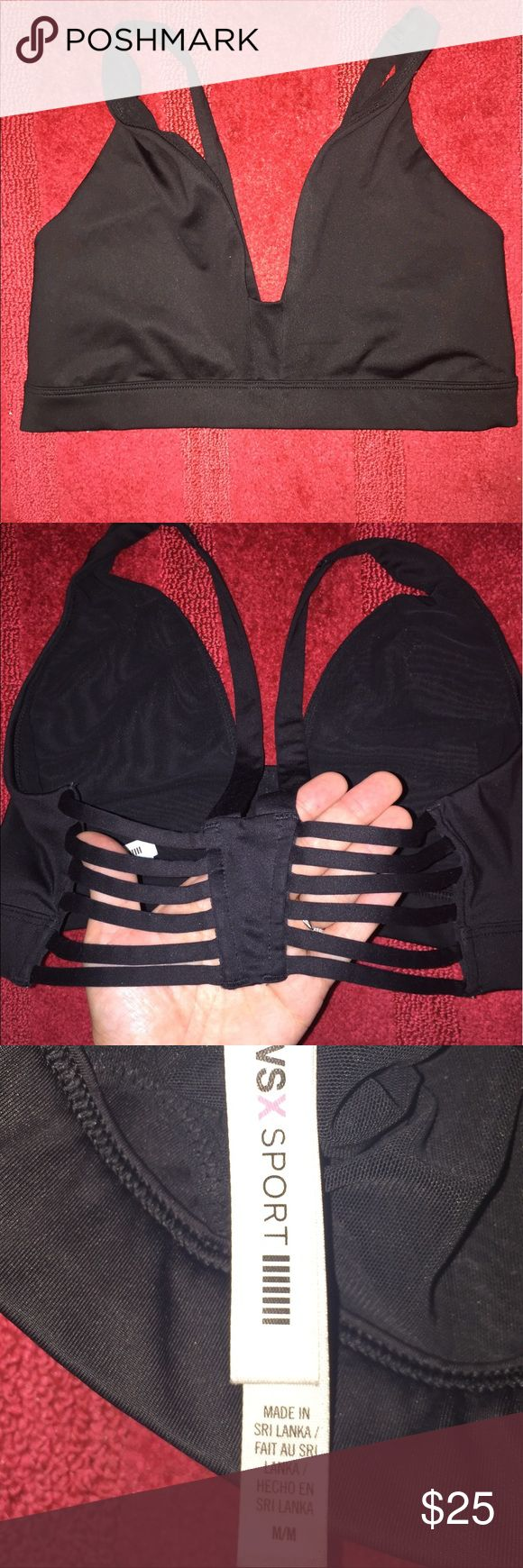 🖤💋Victoria Secret Sports Bra -Size Medium💋🖤 🖤💋Victoria secret sports bra size-Medium. This is used. Has some wear but overall good condition. The last photo shows where I cut out the bra pads that were inside the bra. I no longer have the pads. To me they didn't fit correctly inside the sports bra so I removed. It looks better without the pads I'm sure everyone will agree. But Do Note that small cut in the inside *not Visibleom outside of Bra*💋🖤 Victoria's Secret Intimates…