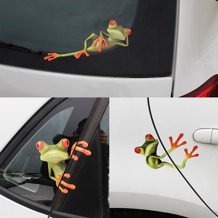 3pcs 15.3x 12.3cm Funny Car Stickers 3D Frogs Vinyl Decal Sticker Car Styling Decoration Auto Stickers Decals Pasters Tags