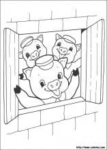 The three little pigs coloring pages on Coloring-Book.info
