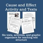 Six texts and lots of activities to help you teach the text structure of cause and effect.