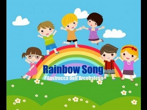 Rainbow (bilingual) #Nurseryrhyme for kids with rainbow puzzle you can easily make yourself at home