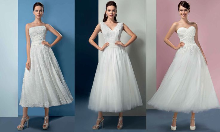 One of the wedding dress trend for 2016 & 2017 is the Vintage style 1950's tea length bridal gown. If you want to show your lovely shoes off on your wedding day, choose this style! It is a perfect dress for your civil wedding as well.