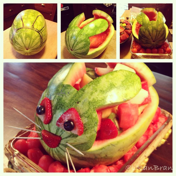 Watermelon Easter Bunny