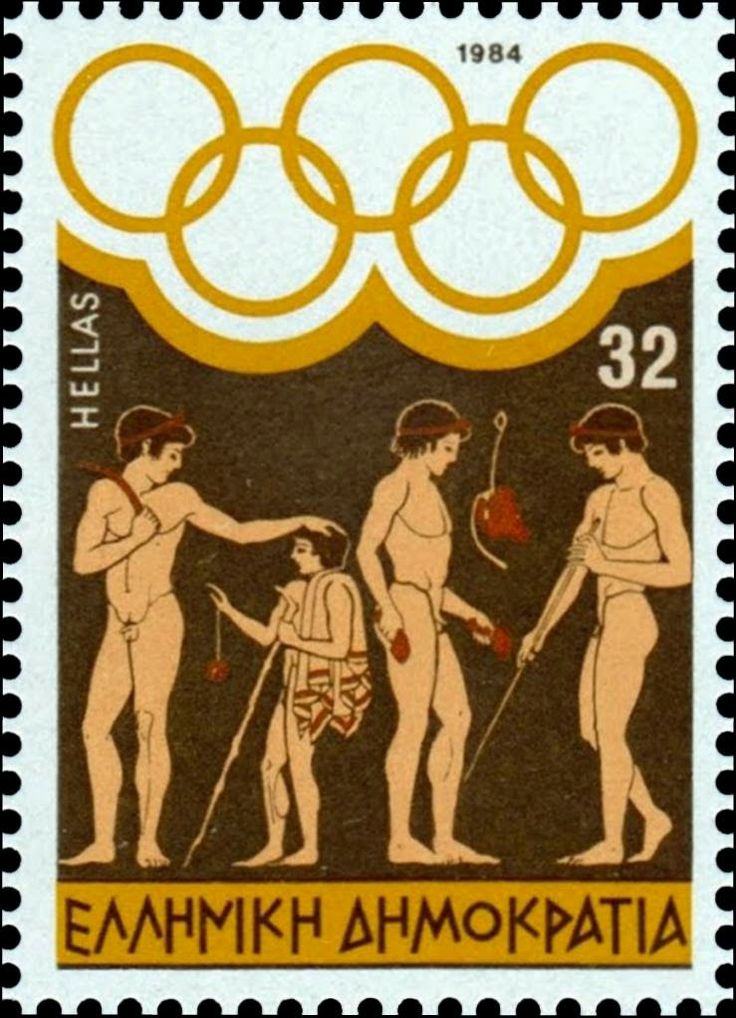 Αρχαία Ελλάδα Γραμματόσημα-Ancient Greece Stamps 1984 Olympic Games Los Angeles