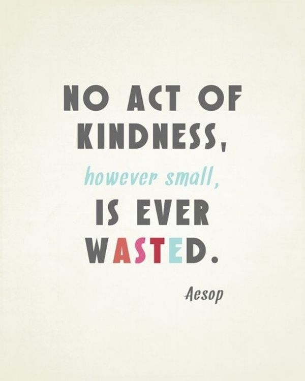 """""""No act of kindness, however small, is ever wasted"""" - Business tip by Leila Khalil, Be Inspired Public Relations"""