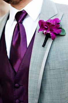purple groomsmen attire - Google Search