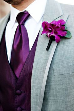 purple groomsmen attire - Google Search