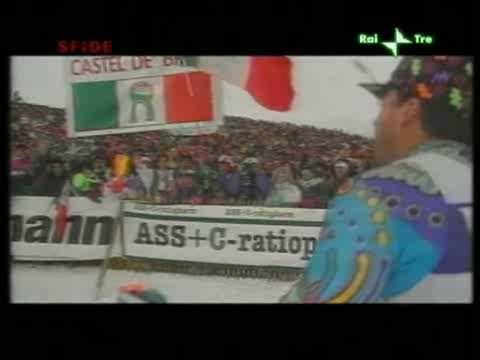 Alberto Tomba - Lech 1994 - si ferma, riparte e vince