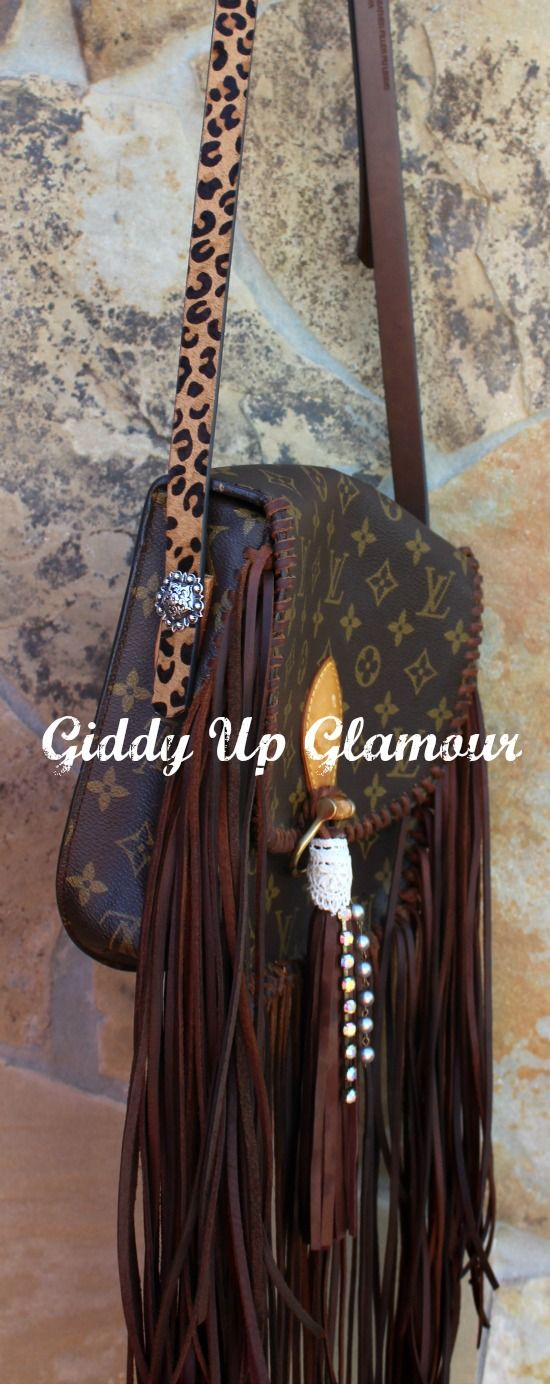 Leather and Vodka St Cloud Fringe Purse with Tassel and Crystals  www.gugonline.com