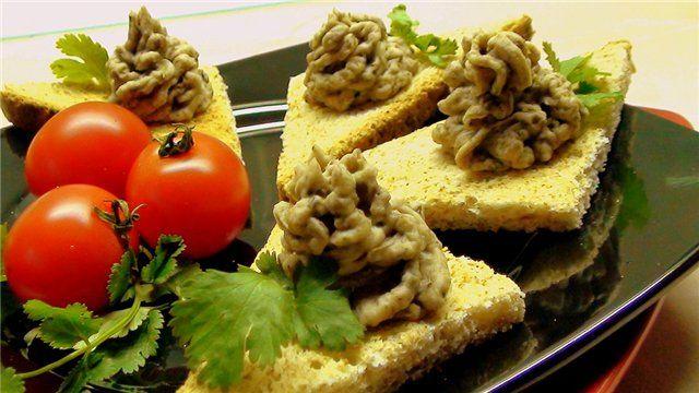 Паштет из фасоли с грибами.  рецепты для поста, постное меню на каждый день