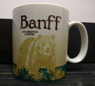 Starbucks Banff Canada Global Icon Collector Series City Mug 2010 RARE