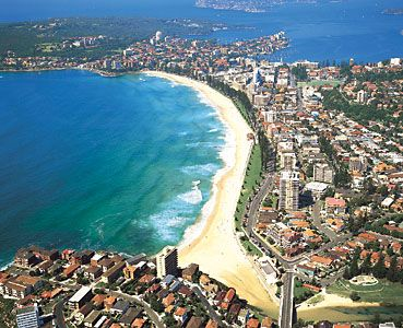 Manly Beach, Australia - ate delicious gelato, surfed, and burnt the back of my legs.