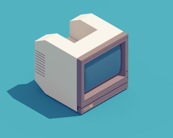 Des dessins animés de machines électroniques