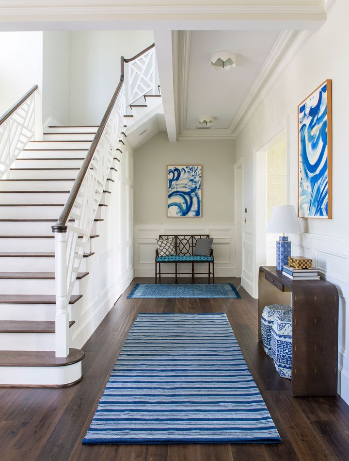 blue and white foyer by Andrew Howard Interior Design
