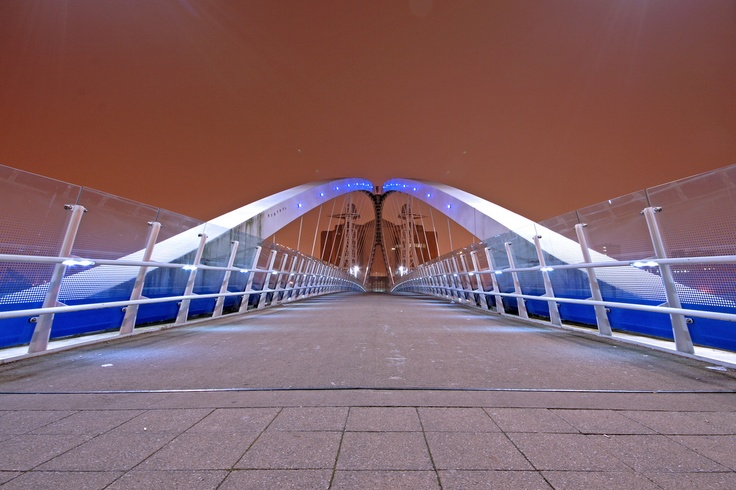 Salford Quays Lift Bridge - Salford Quays - Manchester - Lancashire - England