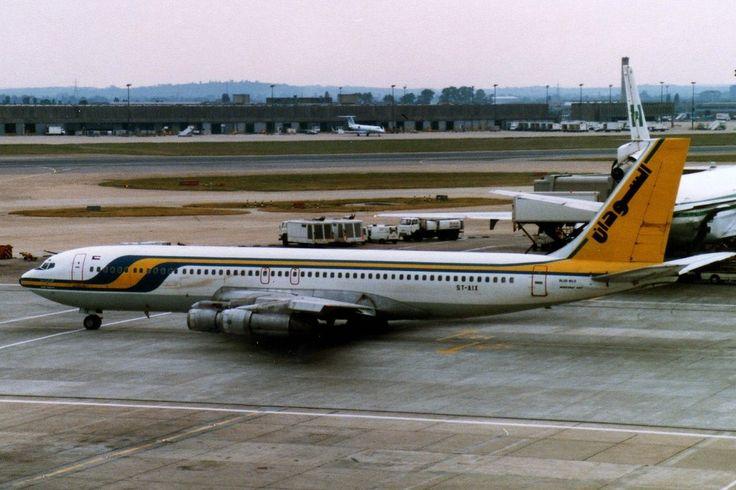 Simon Butler - Sudan Airways Boeing 707 ST-AIX @HeathrowAirport June 1984