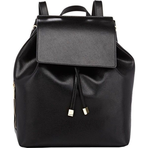 Barneys New York India Mini Backpack (200 CAD) ❤ liked on Polyvore featuring bags, backpacks, accessories, black, black leather rucksack, leather knapsack, black rucksack, mini backpack and miniature backpack