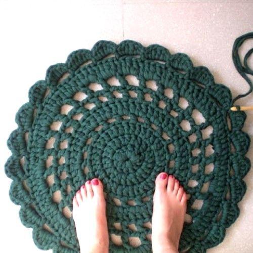 Como hacer un puff de trapillo perfect alfombra de - Como hacer un puff de trapillo ...
