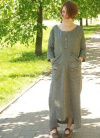 Льняное платье в стиле бохо 3