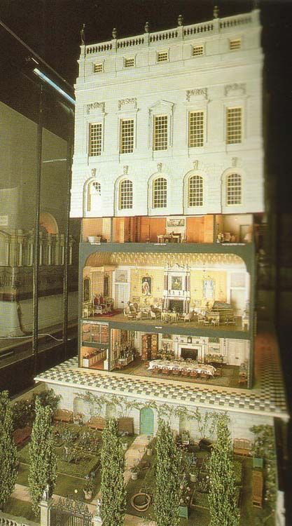 Queen Mary's Dollhouse - designed and built between 1920-24. There are also works of art from 700 artists who made drawings, watercolours, sketches, etchings, prints and engravings.