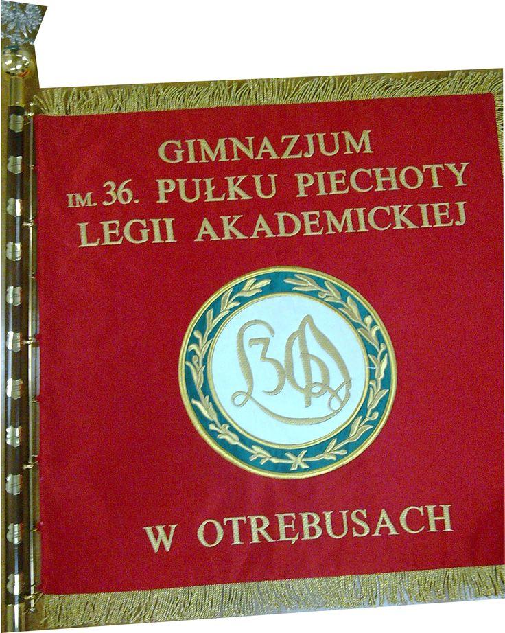 Sztandar Gimnazjum im. 36 pułku piechoty Legii Akademickiej wykonany w AHA STUDIO