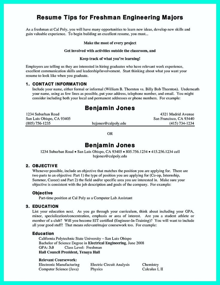 Example Of College Resume | Resume Examples And Free Resume Builder