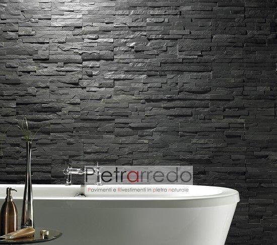 Oltre 25 fantastiche idee su rivestimento in pietra su pinterest rivestimento laterale in - Rivestimenti bagno in pietra ...