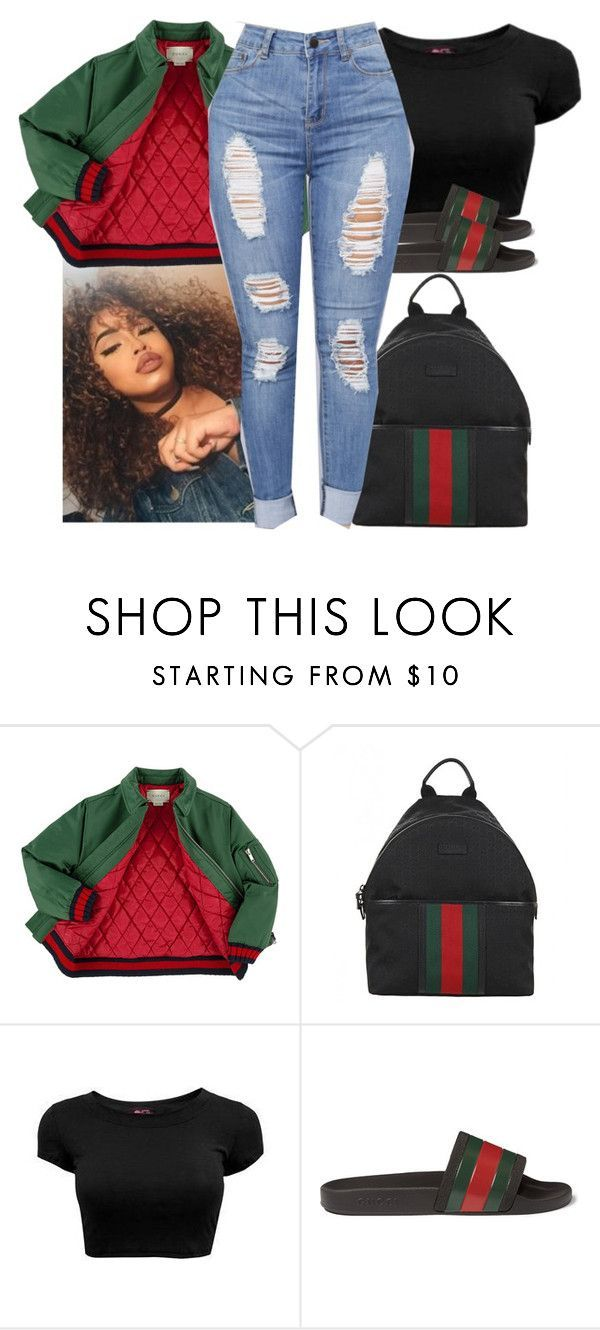 """""""G U C C I"""" by b-a-b-y-g-ii-r-l ❤ liked on Polyvore featuring Gucci #slidesoutfit"""