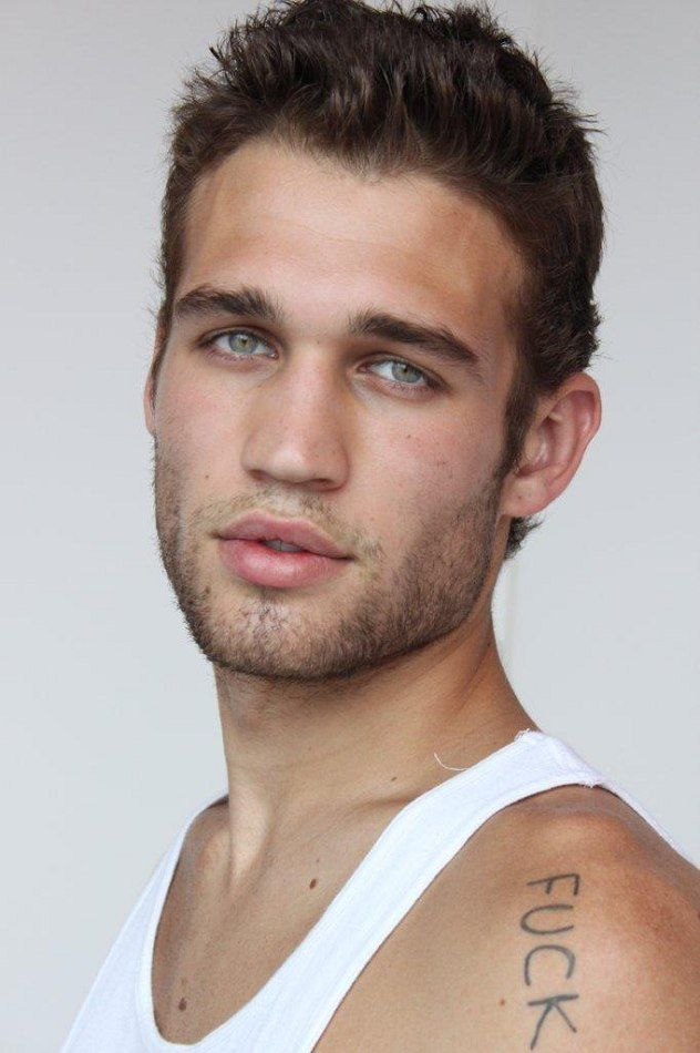 Model name: Josh Boyd. He's ALMOST tipping over into