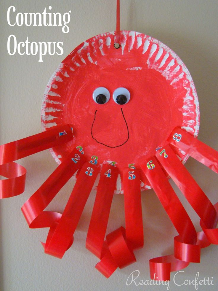 Reading Confetti: Counting Octopus {Clothespin Craft}