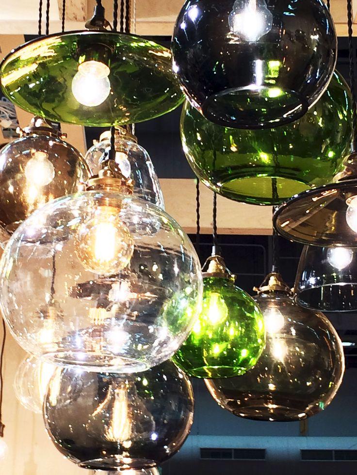Färgade glaslampor från Watt och Veke
