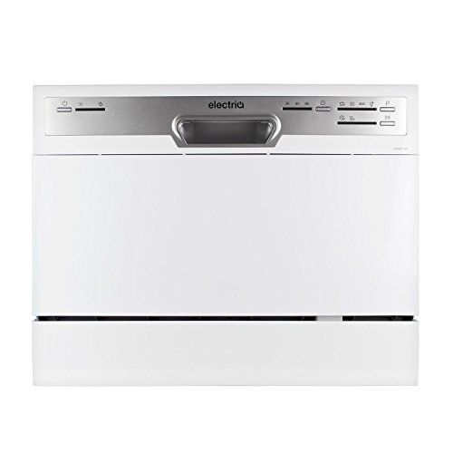 ElectriQ 6 Place Freestanding Table Top Dishwasher - White--179