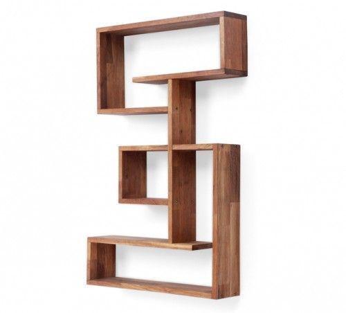 Modern Oak Veneer Atlas Display Unit   Wooden Storage And Book Shelf Unit