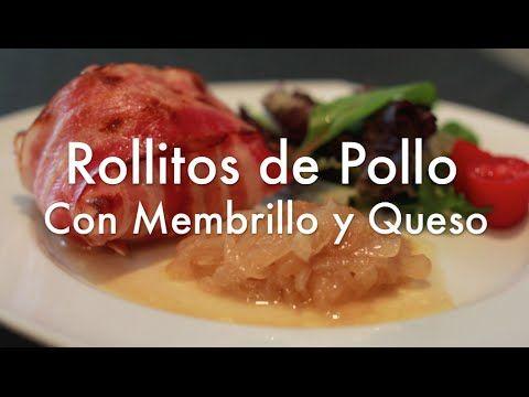 Rollitos de Pollo Rellenos de Membrillo y Queso - Recetas de Navidad