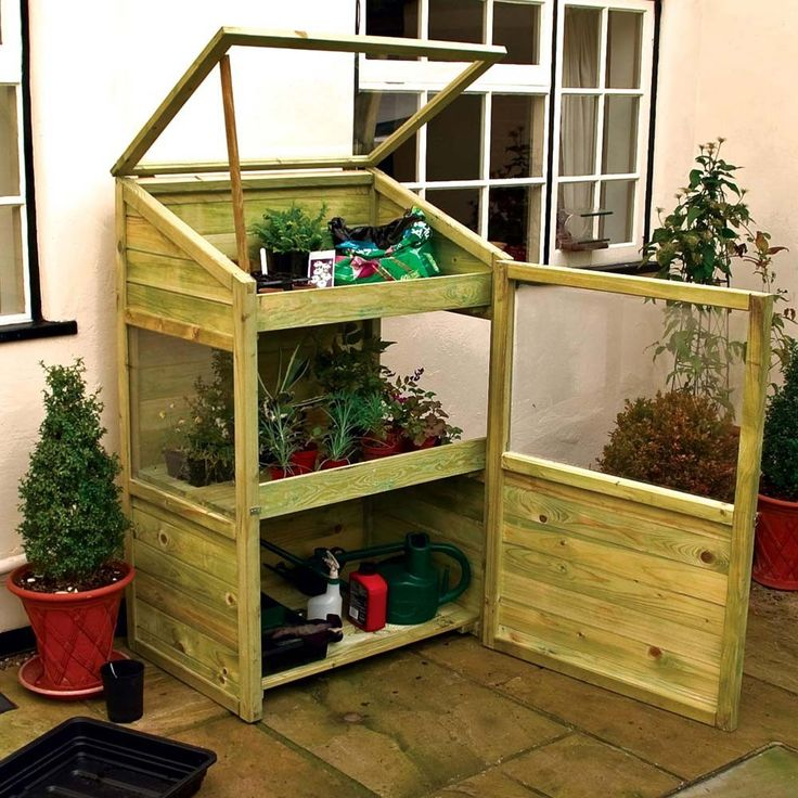 17 best images about greenhouse conservatory potting shed for Mini potting shed