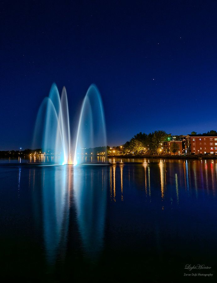 L'eau ... by LightHunter    on 500px; Sherbrooke, southern Quebec, Canada