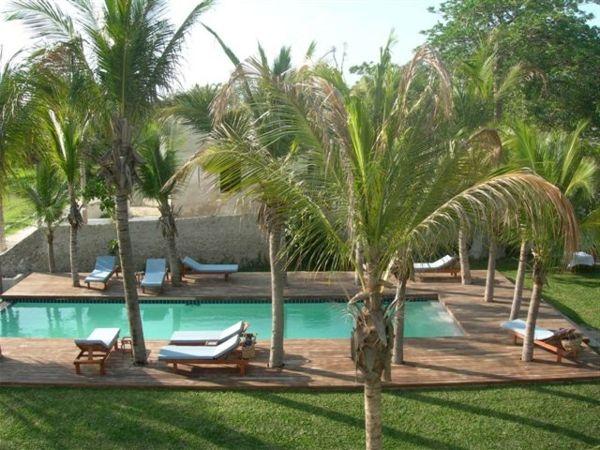 101 Bilder von Pool im Garten - palmen exotisch pool groß - garten anlegen mit pool
