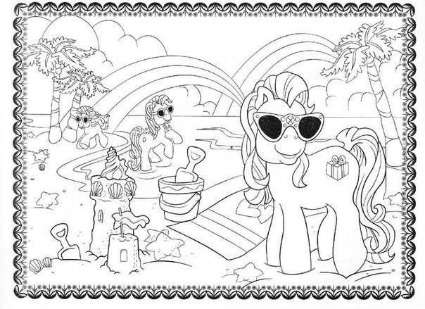 летние детские раскраски 6