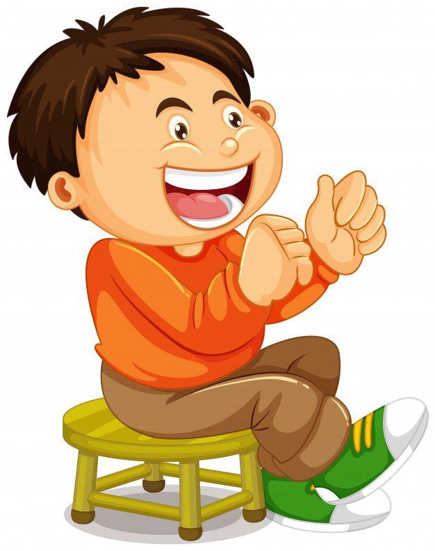 Un Nino Sentado En La Silla Vector Premi Premium Vector Freepik Vector Caracter Dibujos Animados Lindo Sonrisa Nino Sentado Ninos Dibujos