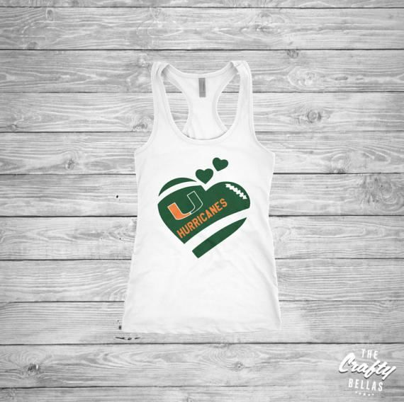 Miami Hurricanes Flag shirt  University of by TheCraftyBellas