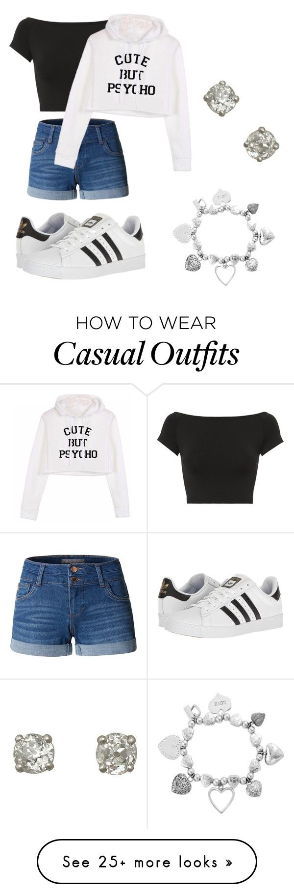 """""""Casual #1"""" by kaylapicco1o on Polyvore featuring LE3NO, adidas, ChloBo and Helmut Lang"""