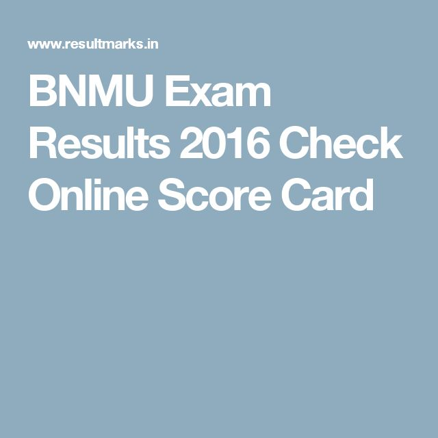 BNMU Exam Results 2016 Check Online Score Card